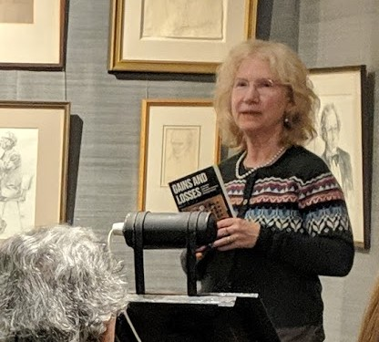 Maggie Hamand at the London launch of Gains and Losses
